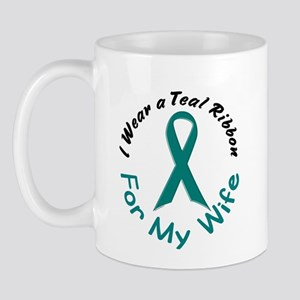 Teal Ribbon For My Wife 4 Mug