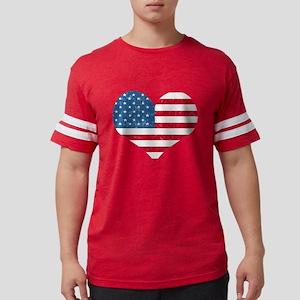 American Flag Hear T-Shirt