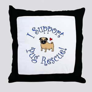 Pug Rescue (Fawn) Throw Pillow