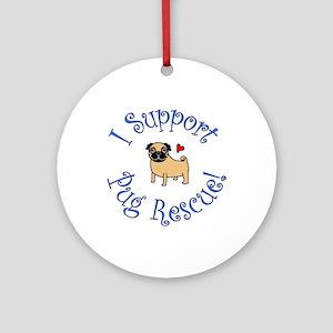 Pug Rescue (Fawn) Ornament (Round)