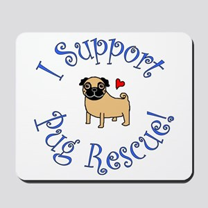 Pug Rescue (Fawn) Mousepad
