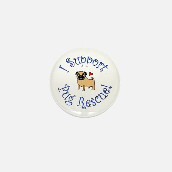 Pug Rescue (Fawn) Mini Button