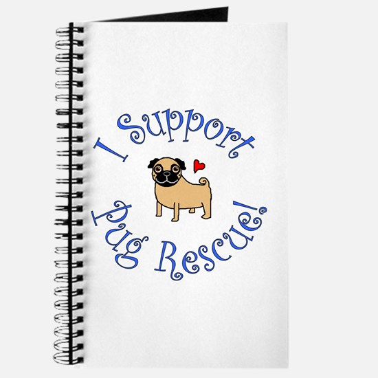 Pug Rescue (Fawn) Journal