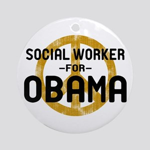 Social Worker for Obama Ornament (Round)