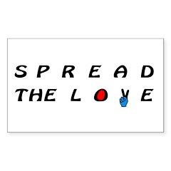 Spread the LOVE Peacefully on Sticker (Rectangular