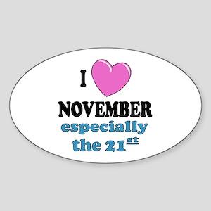 PH 11/21 Oval Sticker