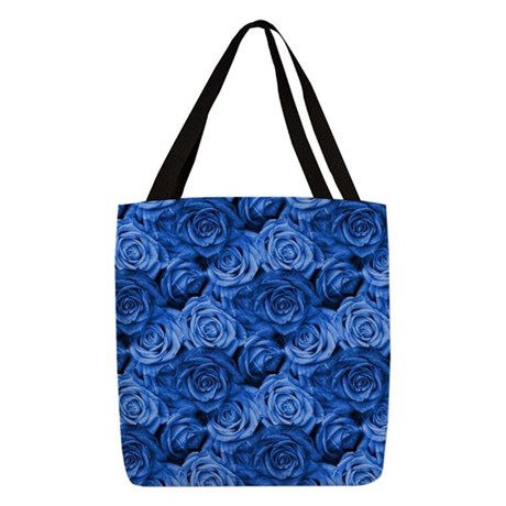 Blue Roses Polyester Tote Bag