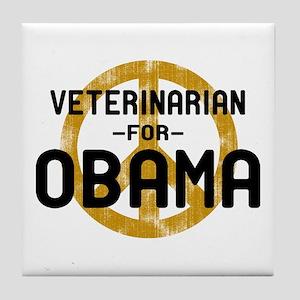 Vet for Obama Tile Coaster