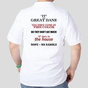 Great Dane Walking bk prnt Golf Shirt