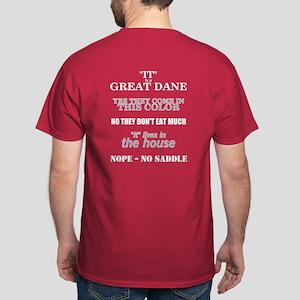 Great Dane Walking Bk Prnt Dark T-Shirt