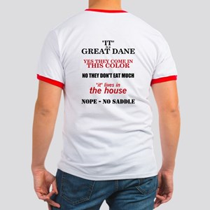 Great Dane Walking bk prnt Ringer T