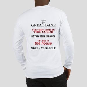 Great Dane Walking bk prnt Long Sleeve T-Shirt