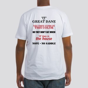 Great Dane Walking bk prnt Fitted T-Shirt