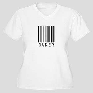 Baker Barcode Women's Plus Size V-Neck T-Shirt