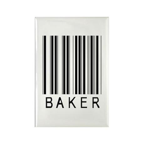 Baker Barcode Rectangle Magnet