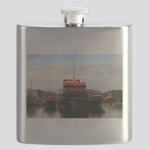 Boats in harbour, Darwin, Australia Flask