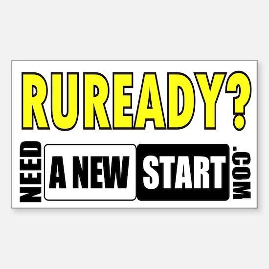 RUREADY? Rectangle Decal
