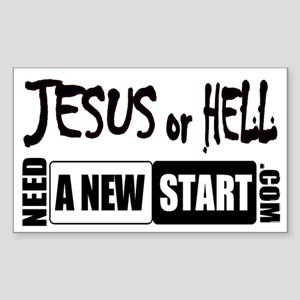 Jesus or Hell Rectangle Sticker