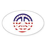 American Peace Oval Sticker