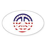 American Peace Oval Sticker (10 pk)