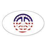 American Peace Oval Sticker (50 pk)