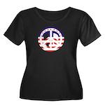 American Peace Women's Plus Size Scoop Neck Dark T
