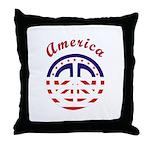 American Peace Throw Pillow