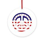 American Peace Ornament (Round)