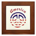 American Peace Framed Tile