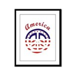 American Peace Framed Panel Print
