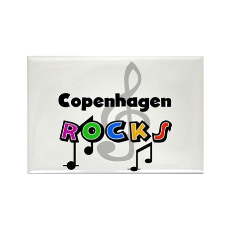 Copenhagen Rocks Rectangle Magnet