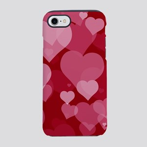 Red Valentine Hearts iPhone 8/7 Tough Case