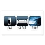 Eat, Sleep, Surf - Rectangle Sticker 10 pk)