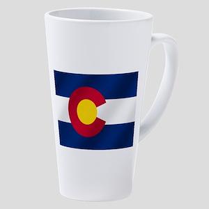 Flag Of Colorado 17 Oz Latte Mug