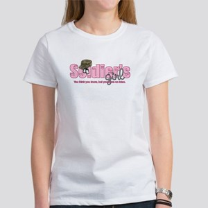 Camo & Dog tags Soldier's Gir Women's T-Shirt