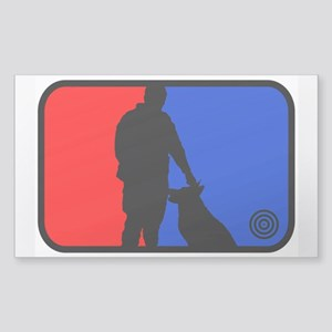 K9 bullseye Rectangle Sticker
