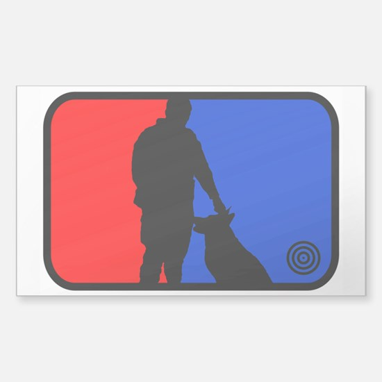 K9 bullseye Rectangle Decal