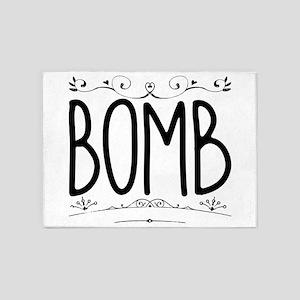 Bomb 5'x7'Area Rug