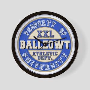 Ballzowt Last Name University Wall Clock