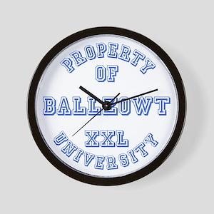 Property of Ballzowt University Wall Clock