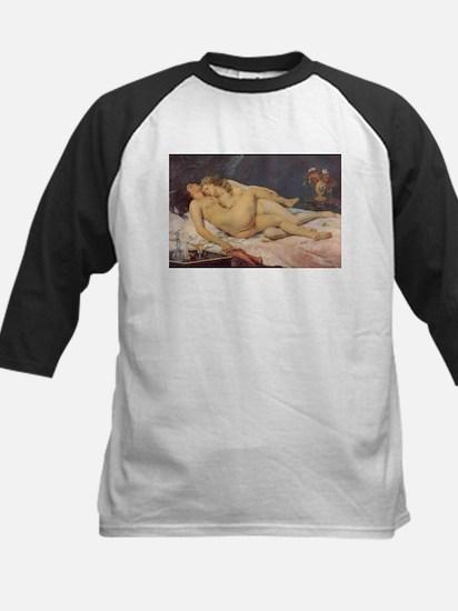 Courbet's Sleep Kids Baseball Jersey