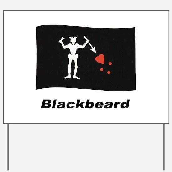 Pirate Flag - Blackbeard Yard Sign