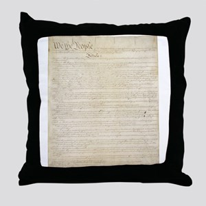 The Us Constitution Throw Pillow