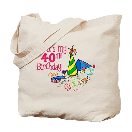 Its My 40th Birthday Party Hats Tote Bag By Lushlaundry