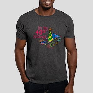 It's My 40th Birthday (Party Hats) Dark T-Shirt