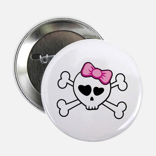 "Cutie Skull 2.25"" Button (10 pack)"
