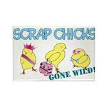 Wild Chicks Rectangle Magnet (100 pack)