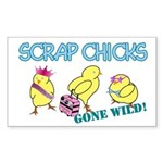 Wild Chicks Rectangle Sticker