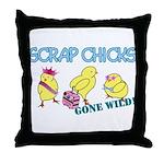 Wild Chicks Throw Pillow