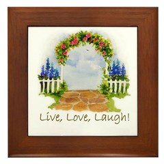 LIVE,LOVE,LAUGH ARCH Framed Tile